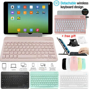 For iPad 8th 7th 10.2 6th 9.7 Air 3 4th 10.9 2020 Bluetooth Keyboard+Mouse+Stand