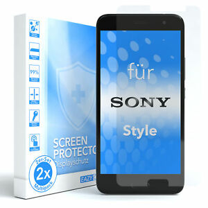 EAZY CASE 2x Glass screen protector for Sony Xperia Style Safety Glass Foil 9H