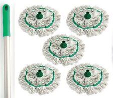 5 colori codificati scopa testa manico in alluminio pulizia igienica Filati Cotone MOP VERDE