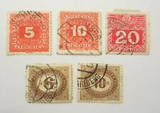 Austrian Postage Due from 1900 and 1916 used