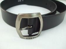 "Guess Black Synthetic Leather Belt with Silver Metal Buckle Size 30"" waist"