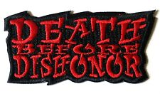 DEATH BEFORE DISHONOR RED PATCH