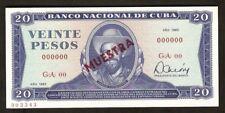 Central America Specimen 20 Pesos 1983