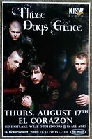 THREE DAYS GRACE 2006 Gig POSTER Seattle Washington Concert
