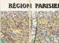 Paris 12e 11e St-Mandé Vincennes 1926 carte/lin orig. Daumesnil Montreuil Nation