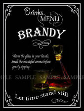 BRANDY  RETRO DESIGNED METAL SIGN: HOME BAR: PUB: MANCAVE: HOME DECOR