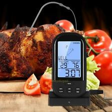 Digital LCD Wireless Remote Oven Food Cooking Meat BBQ Temp Alarm Thermometer