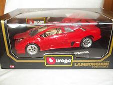 Burago 3028 Lamborghini Diablo 1990 Rojo 1/18 mint & boxed