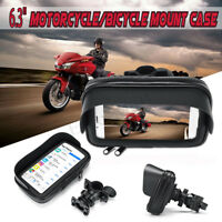 6.3'' Waterproof Motorcycle Bicycle Bike Handlebar Mount Case Phone GPS Holder