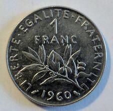 Frankreich / France - 1 Franc - 1960 - Nickel - Erhaltung: VZ - ST // xf - unc