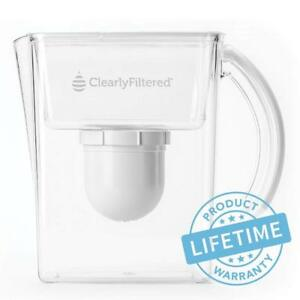 Clearly Filtered Water Filter Pitcher - Removes 270+ Contaminants up to 99.99%