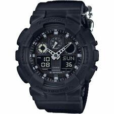 Casio Gents G-Shock Blackout Cloth Series Alarm Chronograph Watch GA-100BBN-1AER