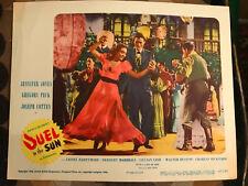 Duel In The Sun 1947 United Artists westernlobbycard Jennifer Jones Gregory Peck