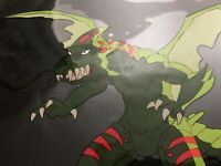 Alien Dragon STREET SHARKS Original Authentic Handpainted Animation Cel Final Ep