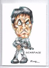 SCARFACE TONY MONTANA ** TRADING CARD ART SIGNED by RAK ** NM SEE MY STORE