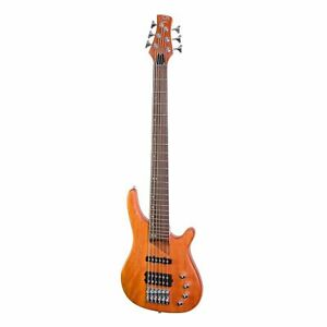 J&D Luthiers 6-String T-Style Contemporary Active Bass Guitar (Natural Satin)