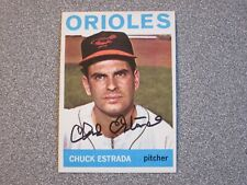 1964 TOPPS #263 CHUCK ESTRADA ORIOLES SIGNED AUTOGRAPHED CARD - FREE SHIPPING