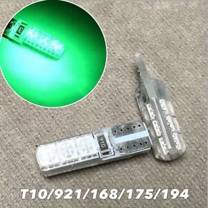 PARKING LIGHT No Canbus Error T10 W5W 168 175 194 2825 6 SMD LED Green bulb W1 J