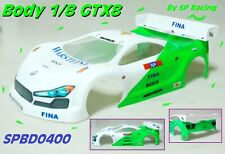 Carrozzeria Body by SP Racing 1/8 GT GTX8 for MGT7 RGT8 GTX8 Paint White/Green