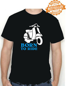 BORN TO RIDE Scooter T-Shirt / Moped / SKA / MOD / SKINHEAD / Rally / All Size