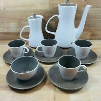 Poole Pottery Mushroom tea/coffee set - pots cups saucers sugar bowl