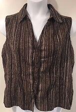 St John's Bay Womens XL Sleeveless Collared Shirt