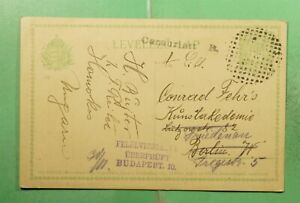 DR WHO HUNGARY POSTAL CARD TO GERMANY FORWARDED WWI CENSORED? g17135