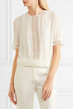 Giambattista Valli White Silk Top IT40