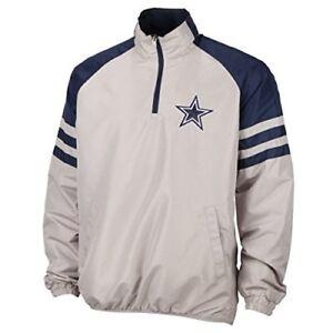 Dallas Cowboys Men's 1/2 Zip Pullover Jacket - Gray/Navy