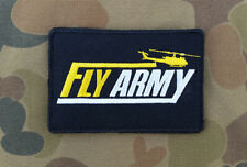 """Fly Army"" Patch - Excellent Quality & Design - double sided hook & loop backing"