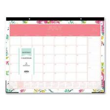 Blue Sky 107938 Day Designer Academic Year Desk Pad 22 X 17 White Floral
