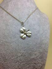 Vintage Sterling Silver Clover Leaf Pendant Necklace Fully Hallmarked