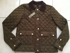 NWT J CREW QUILTED TACK JACKET OLIVE MOSS XXS