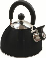 NEW DELUXE STEEL WHISTLING KETTLE Bushcraft Camping h