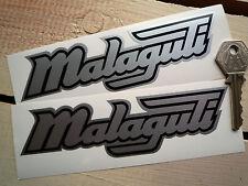 "MALAGUTI Classic Moped Scooter STICKERS Black & Silver 6"" Pair Phantom Jetline"