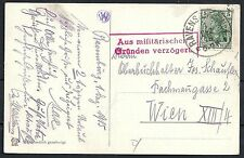 Reich 1915 Red Cross PPC and militairy postmark to Vienna