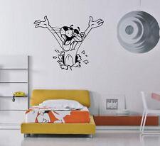 Funny Pink Panther Cartoon Kids Room Decor Wall Mural Vinyl Art Sticker M362