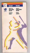 Orig.Complete PRG    Olympic Games SEOUL 1988 - BASEBALL  !!  VERY RARE