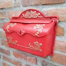 Nostalgique Boîte aux Lettres Fonte Antique Style Cottage Neuf