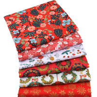 A4 Christmas Wreath Fabric Floral Patchwork DIY Clothing Sewing Quilting Craft