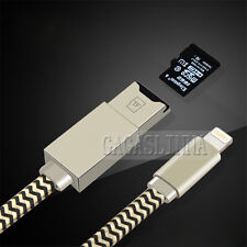 Lightning Micro SD/TF Card Reader USB Sync Data Cable Charger  For iPhone 5 6 7