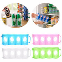 Hot Sale Beer Soda Can Holder Storage Kitchen Fridge Rack Plastic 1x