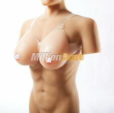 Fake Breast Form Enhancer Silicone False Boobs Cross Dresser 34C / 36B / 38A Cup