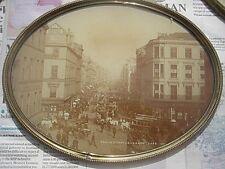 oval brass frame sepia photo Argyle Street, Glasgow, Valentine & Sons, pre 1880