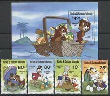 Walt Disney, Ostern - Turks u.Caicos Inseln - 532-535, Bl.30 ** MNH