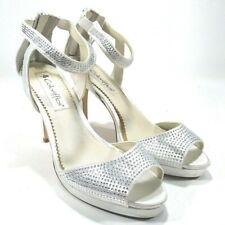 Wedding Bridal Heels Coloriffice Platform Heel Silk Wedding 8M Jeweled Slik