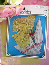 Vintage Crochet Pattern & Knitting Pattern For 2 Shawls For Baby Free P&P!