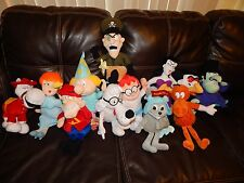 ROCKY & BULLWINKLE Complete LARGE Set of 12 STUFFINS 14In NEW! Tags Free Ship