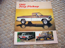 JEEP OFFICIAL PICKUP TRUCK SALES BROCHURE 1982 USA EDITION.