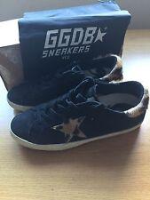 GOLDEN GOOSE DELUXE BRAND Superstar Sneakers Trainers Black Leopard 5uk 38eu